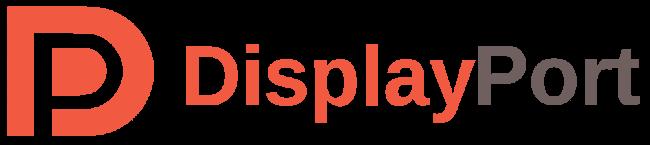 The DisplayPort logo.