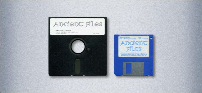 """A 5.25"""" Floppy Disk and a 3.5"""" Floppy Disk"""