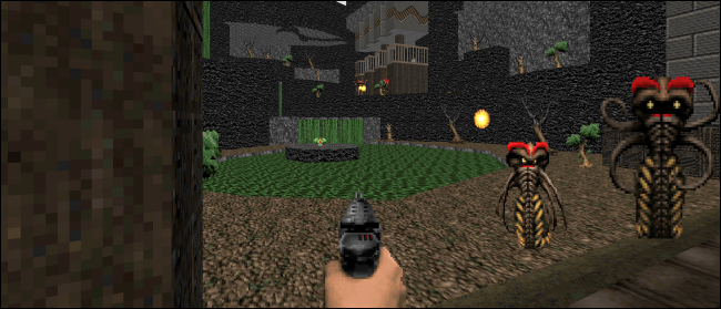 "A scene from ""Doom"" in widescreen."