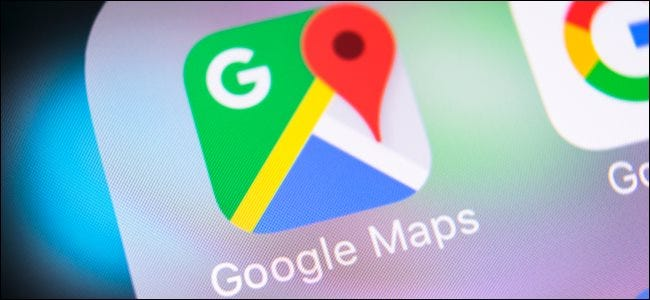 Google Maps app logo on a smartphone