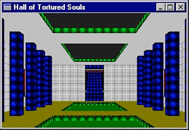 "The ""Hall of Tortured Souls"" Easter egg in Microsoft Excel '95."