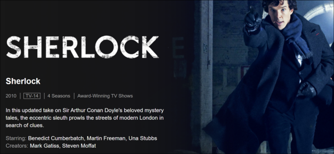 How to stream BBC's Sherlock