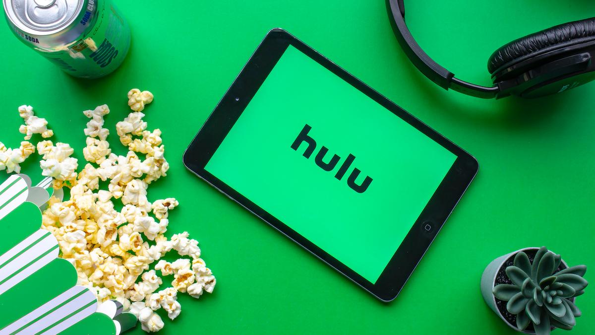 Hulu logo on a tablet