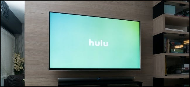 Hulu Logo on TV