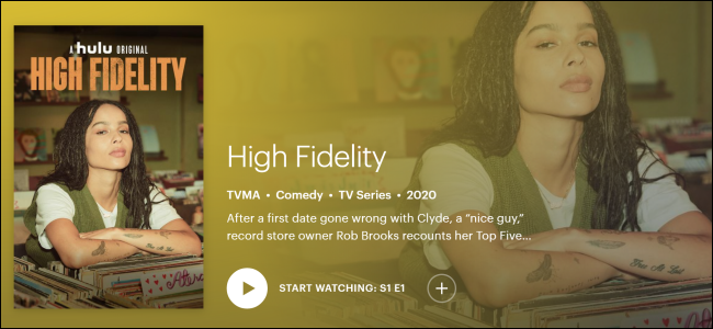 "Hulu Original ""High Fidelity."""
