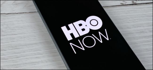El logotipo de HBO NOW en un teléfono inteligente.