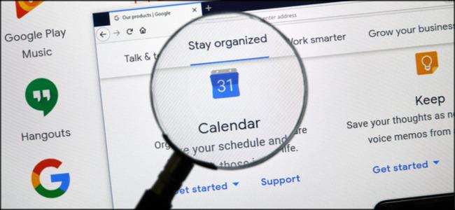 Google Calendar Magnified