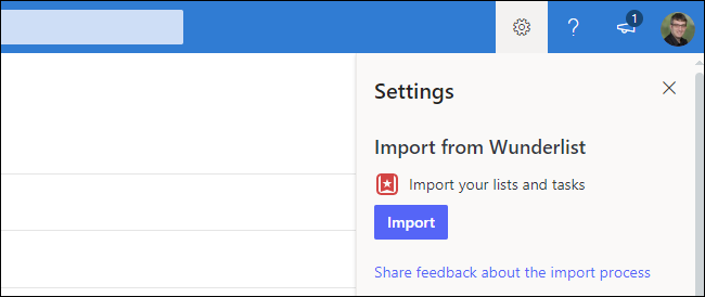 How to import Wunderlist data into Microsoft To Do on the web