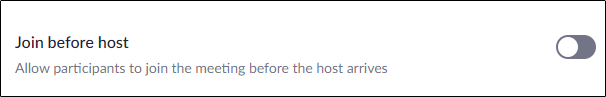 "The ""Join Before Host"" option."