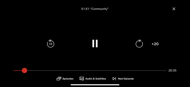 You can rewind or skip ahead by using the seek bar.