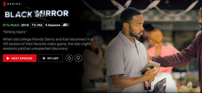 """Black Mirror"" on Netflix."