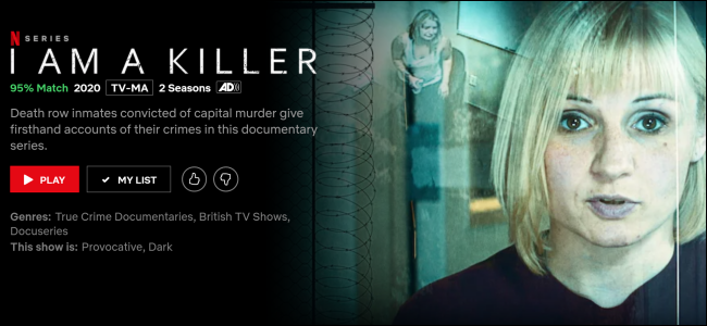 """I Am a Killer"" on Netflix."