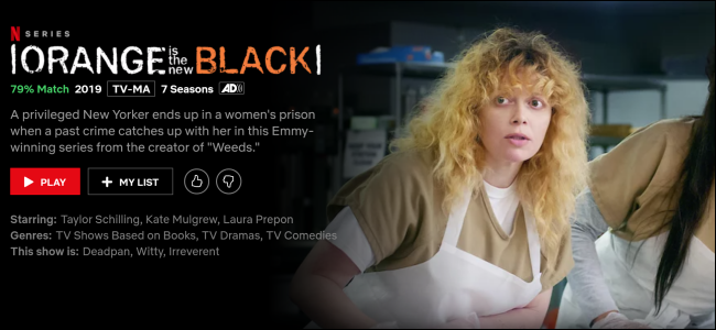"""Orange Is the New Black"" on Netflix."