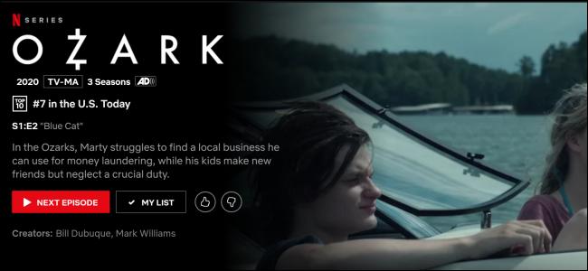 """Ozark"" on Netflix."