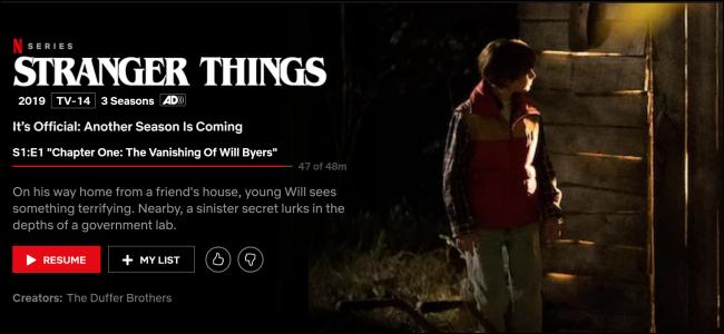 """""""Stranger Things"""" on Netflix."""