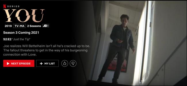 """""""You"""" on Netflix."""
