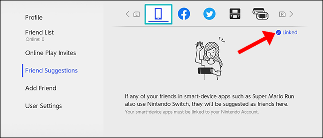 nintendo switch friend suggestion