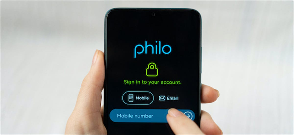 The Philo logo on a Smartphone.