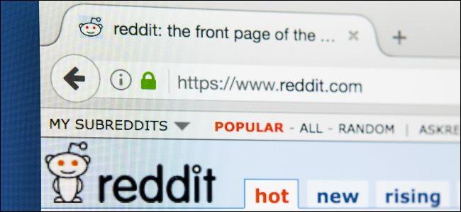 The Reddit desktop website in a web browser on a computer.