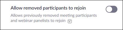 remove participants for good option