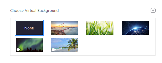 "The ""Choose a Virtual Background"" menu."