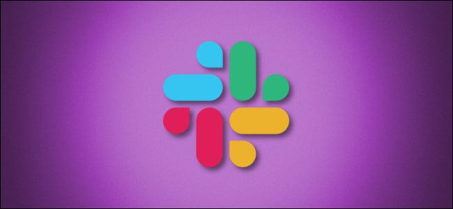 Slack logo on a purple background