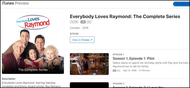 iTunes Everybody Loves Raymond