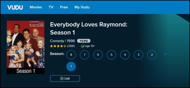 Vudu Everybody Loves Raymond