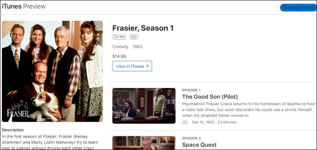 Frasier iTunes