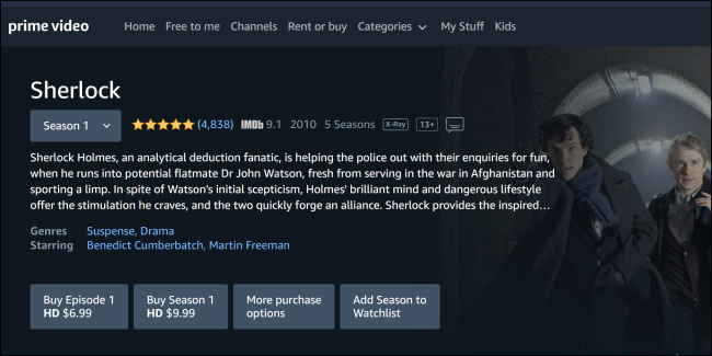 Sherlock Amazon Prime Video