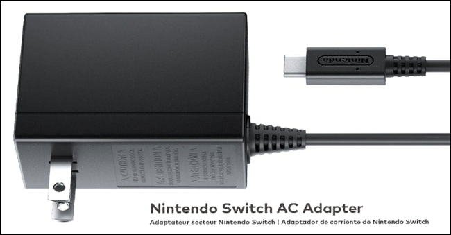 The official Nintendo Switch AC Adapter.