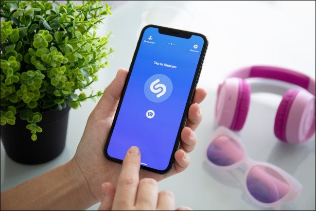 Shazam on an iPhone X