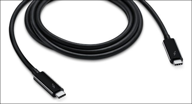 A Thunderbolt 3 Cable.