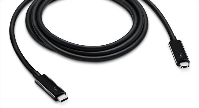 A Thunderbolt 3 Cable.