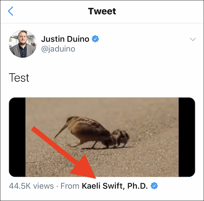 Tweet with embedded video from iPhone