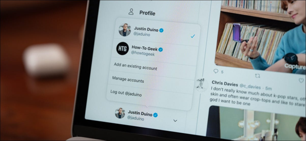 Twitter for Web Account Switcher