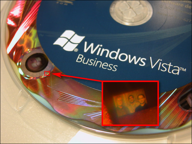The Windows Vista security team hologram photo.