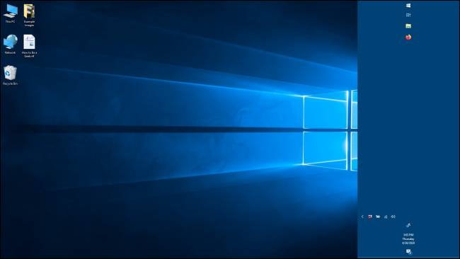 A wider taskbar in Windows 10
