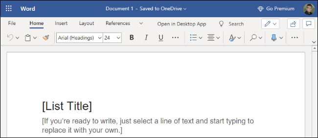 Microsoft Word on the Web
