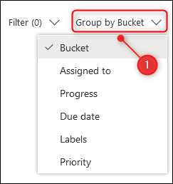 "The ""Group by Bucket"" option."