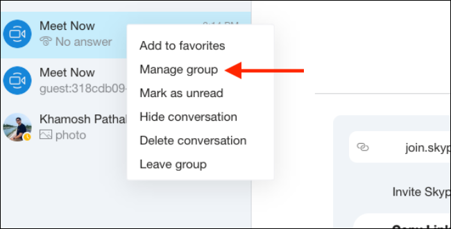 Click on Manage Group