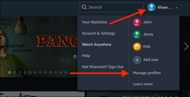 Click on Manage Profiles
