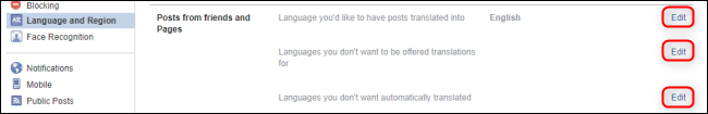 Facebook Language Posts From Friends