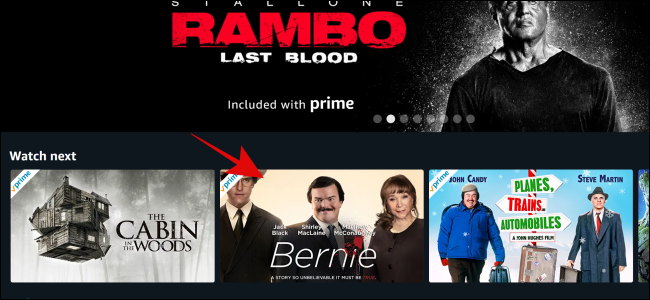 Select the show or film you want to watch on Amazon Prime Video.