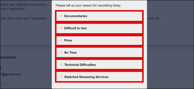 CuriosityStream Cancel Reasons