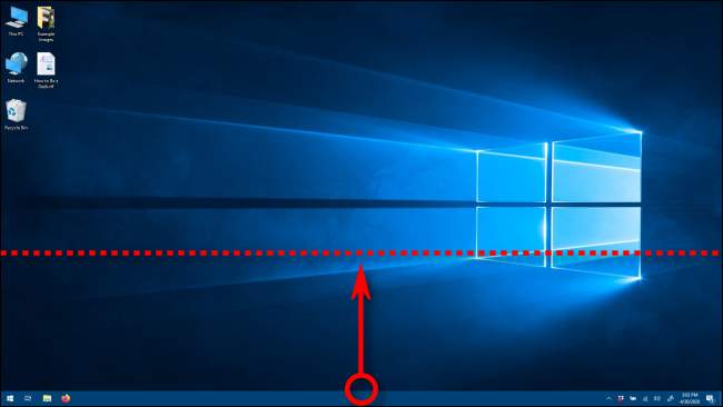 Changing the height of the taskbar in Windows 10