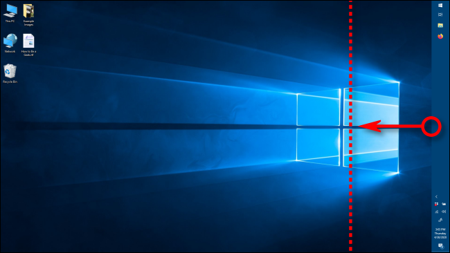 Changing the width of the taskbar in Windows 10