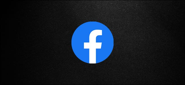 Facebook Logo with Dark Mode Background