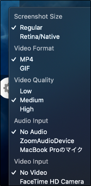 format and quality menu
