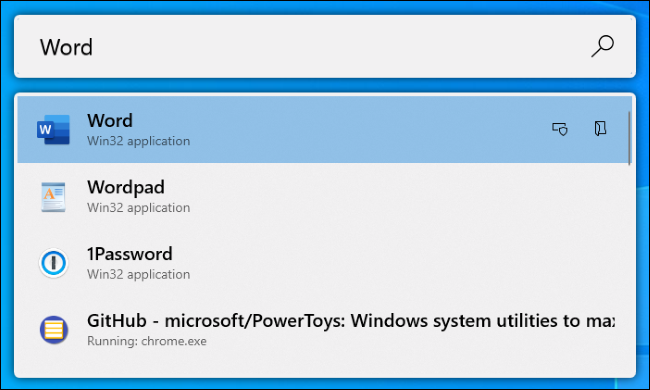 El lanzador de aplicaciones PowerToys Run en Windows 10.